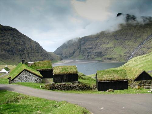 Saksun. Færøerne