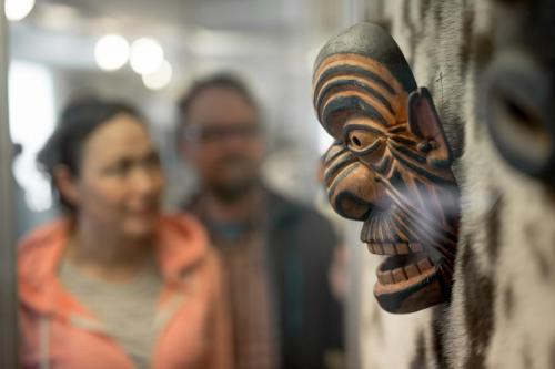 Inuit maske på Tasiilaq Museum
