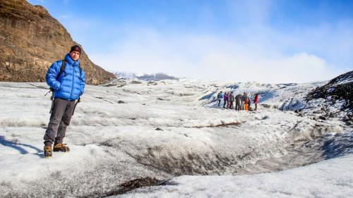 Gletsjervandring på Sólheimajökull