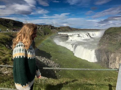 Det store vandfald Gullfoss