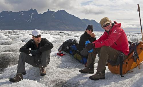Gletsjervandring på vej til Skaftafell