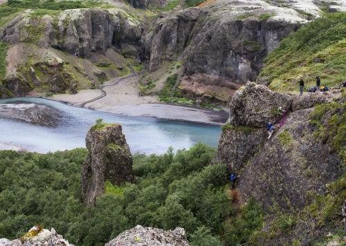 Lidt klatring ved Núpsá