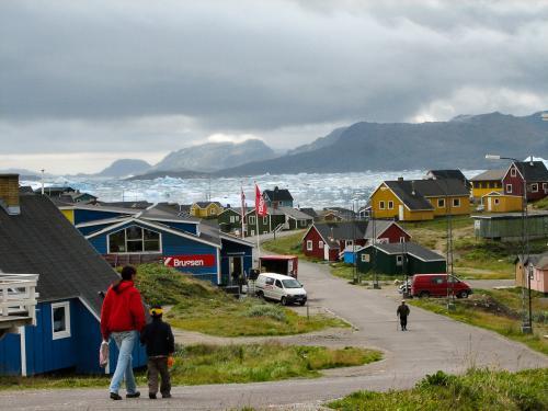 Bygden Narsaq i Sydgrønland