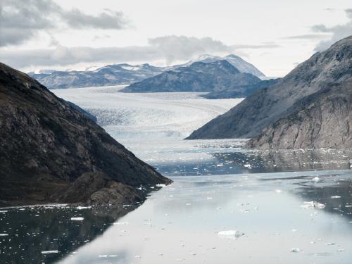 Udsigt over Qooroq isfjorden til isbræen